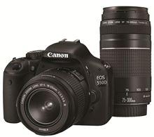 Immagine di CANON EOS 550D + obiettivo 18-55 mm + obiettivo 75-300 mm
